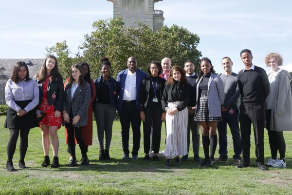 Students from Tottenham School of Excellence with David Lammy (MP for Tottenham) at Cliveden Literary Festival