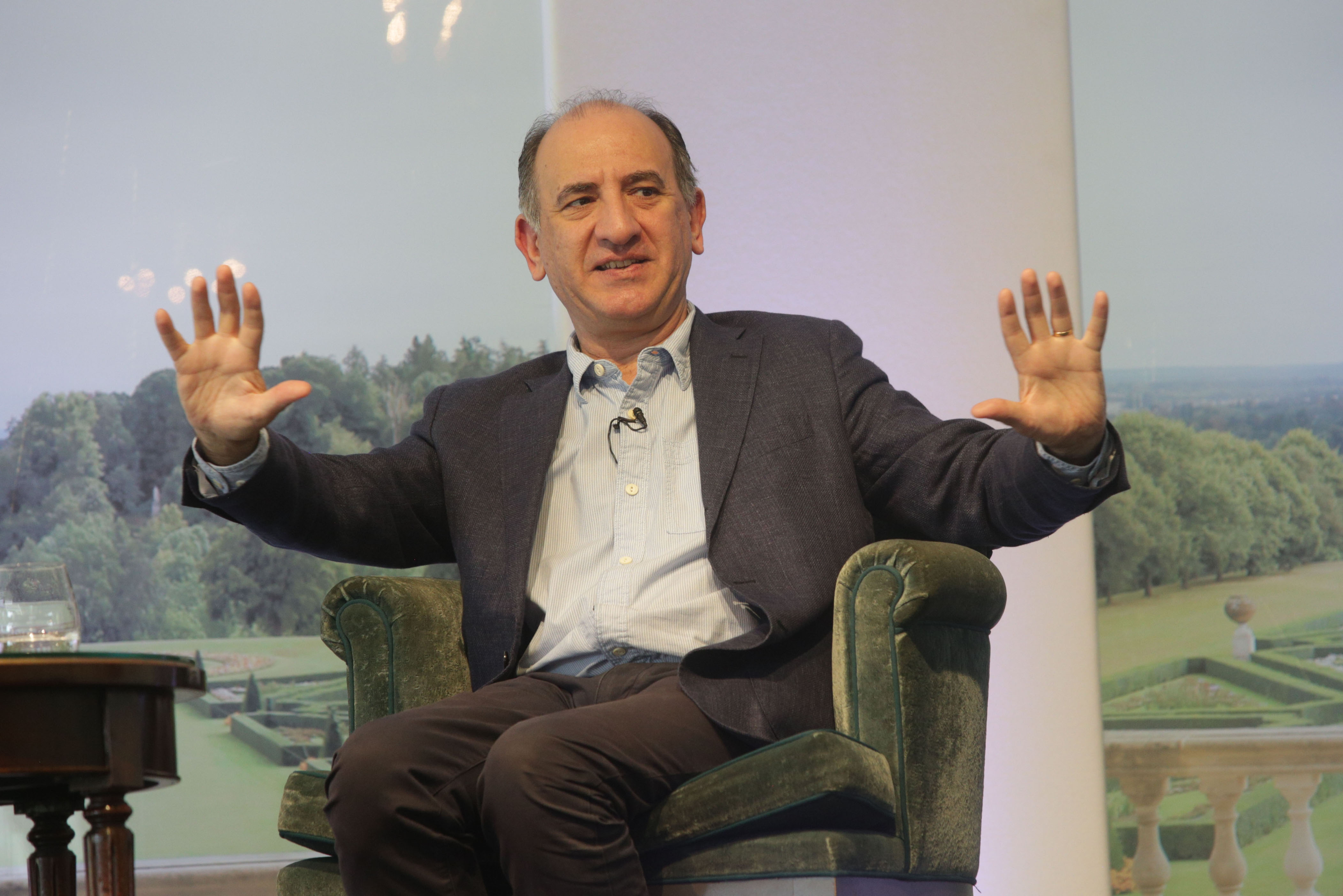 Armando Iannucci discussing The Personal History History of David Copperfield at Cliveden Literary Festival