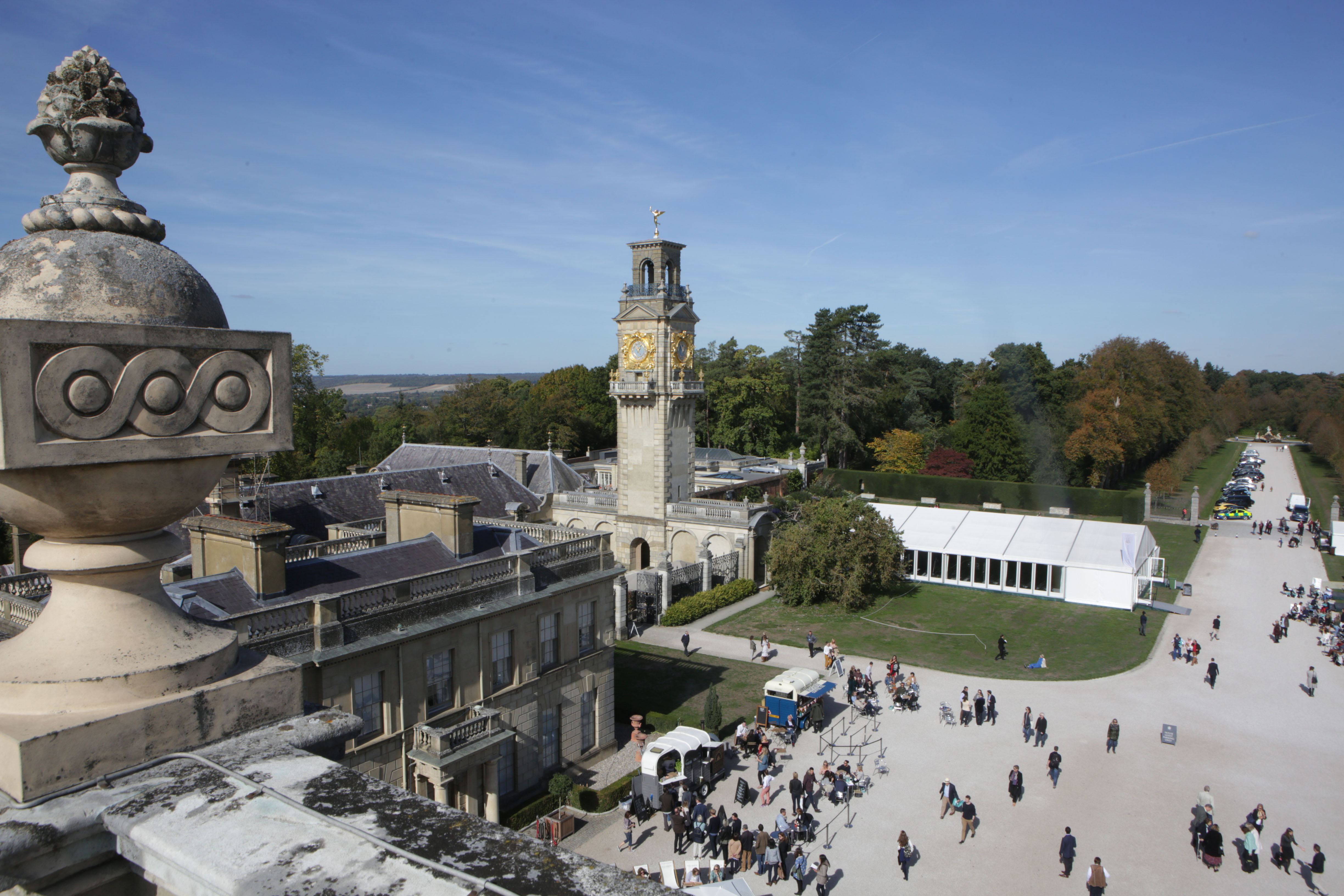 Cliveden Literary Festival 2018 from above