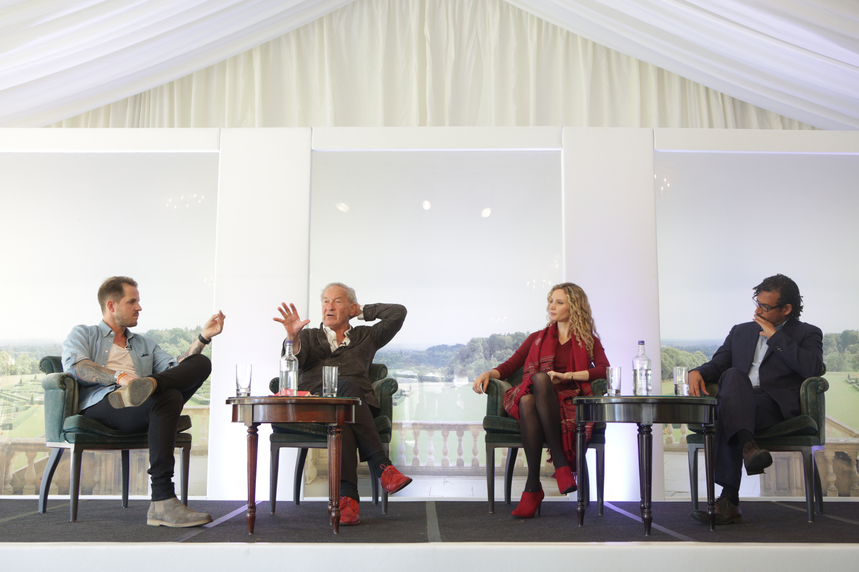 Dan Jones, Sir Simon Schama, Suzanne Lipscomb and David Olusoga on The Arts Club Stage at Cliveden Literary Festival