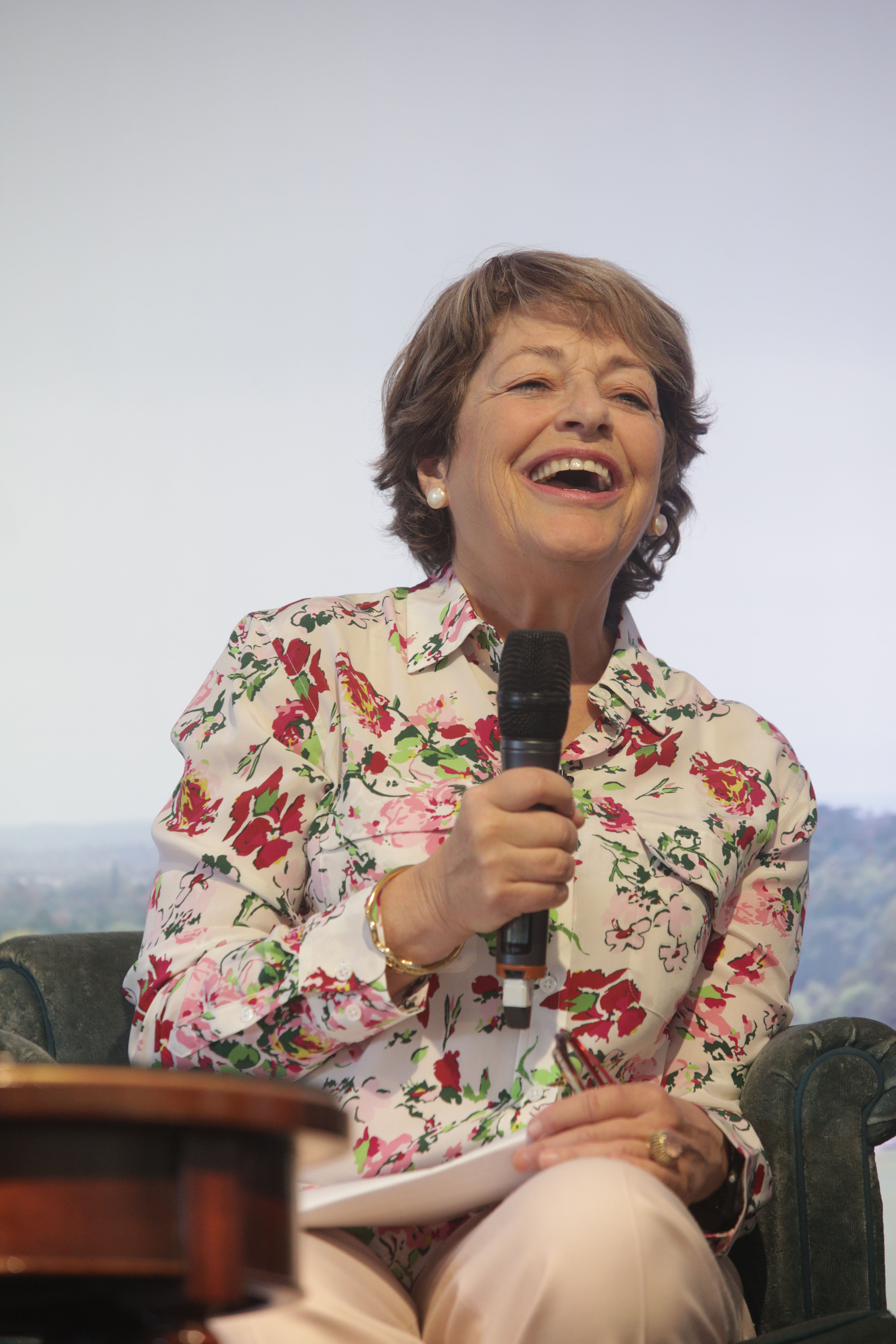 Flora Fraser on The Arts Club Stage at Cliveden Literary Festival