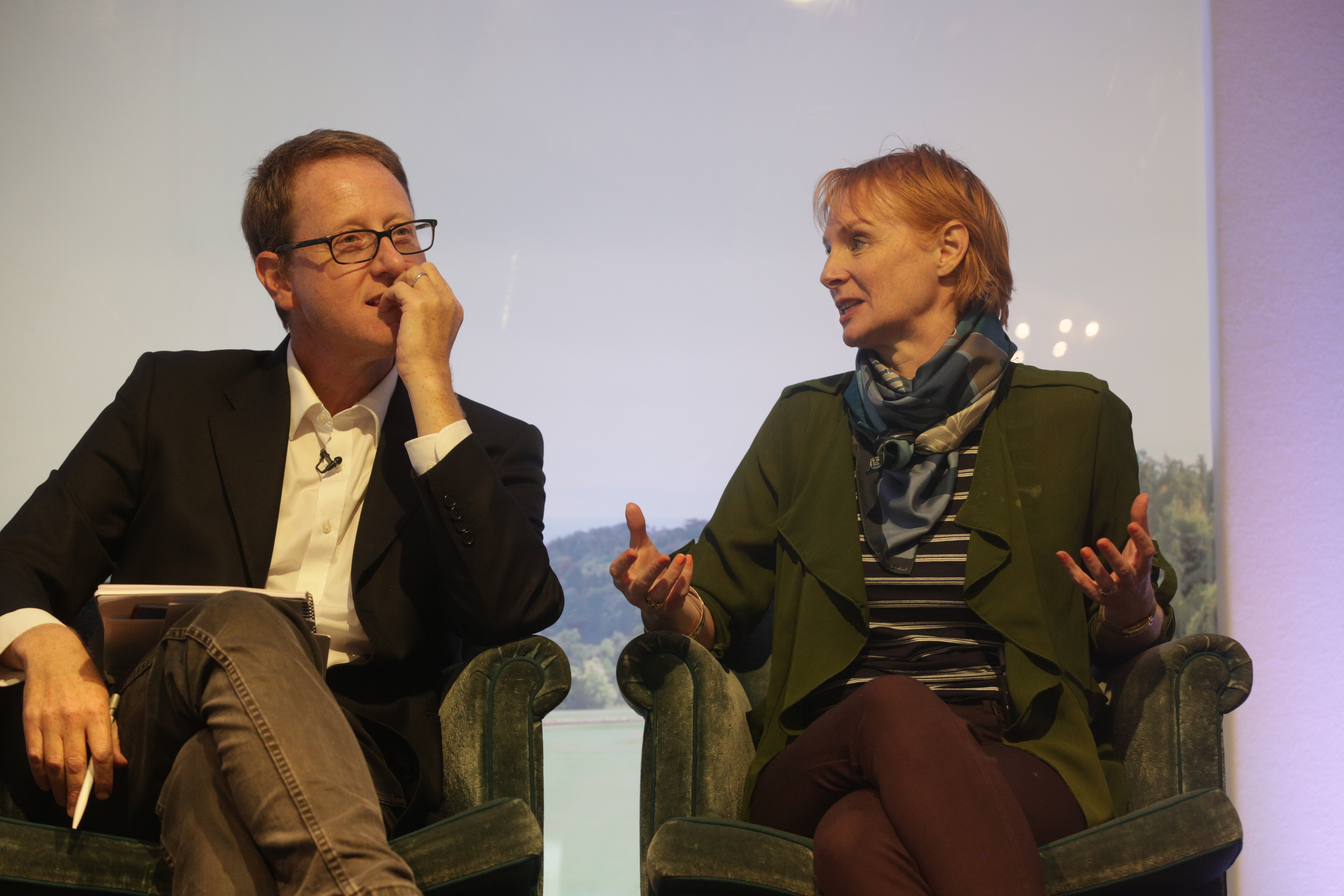 Jonathan Freedland and Anne McElvoy at Cliveden Literary Festival