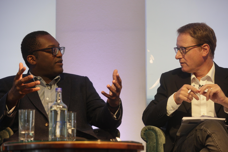 Kwasi Kwarteng and Jonathan Freedland at Cliveden Literary Festival