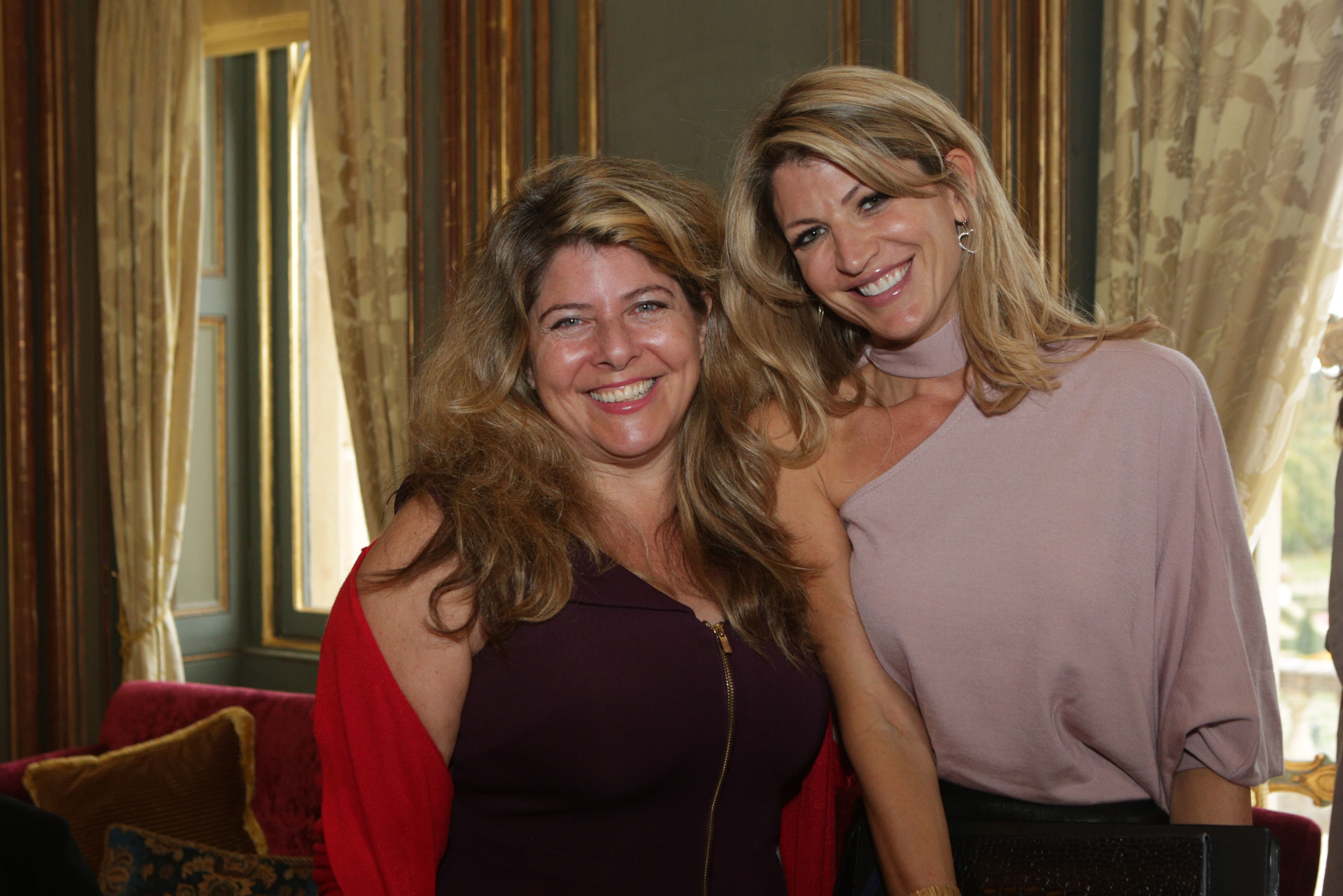 Naomi Wolf and Natalie Livingstone at Cliveden Literary Festival