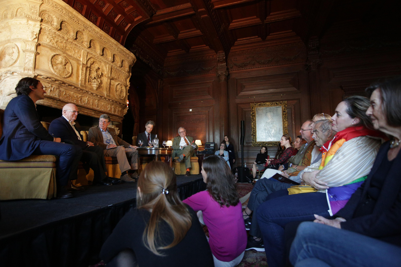 Putin, Spooks and Honeytraps panel with Ben Judah, Sir Richard Dearlove, Christopher Andrew, Adam Zamoyski and Richard Davenport-Hines at Cliveden Literary Festival