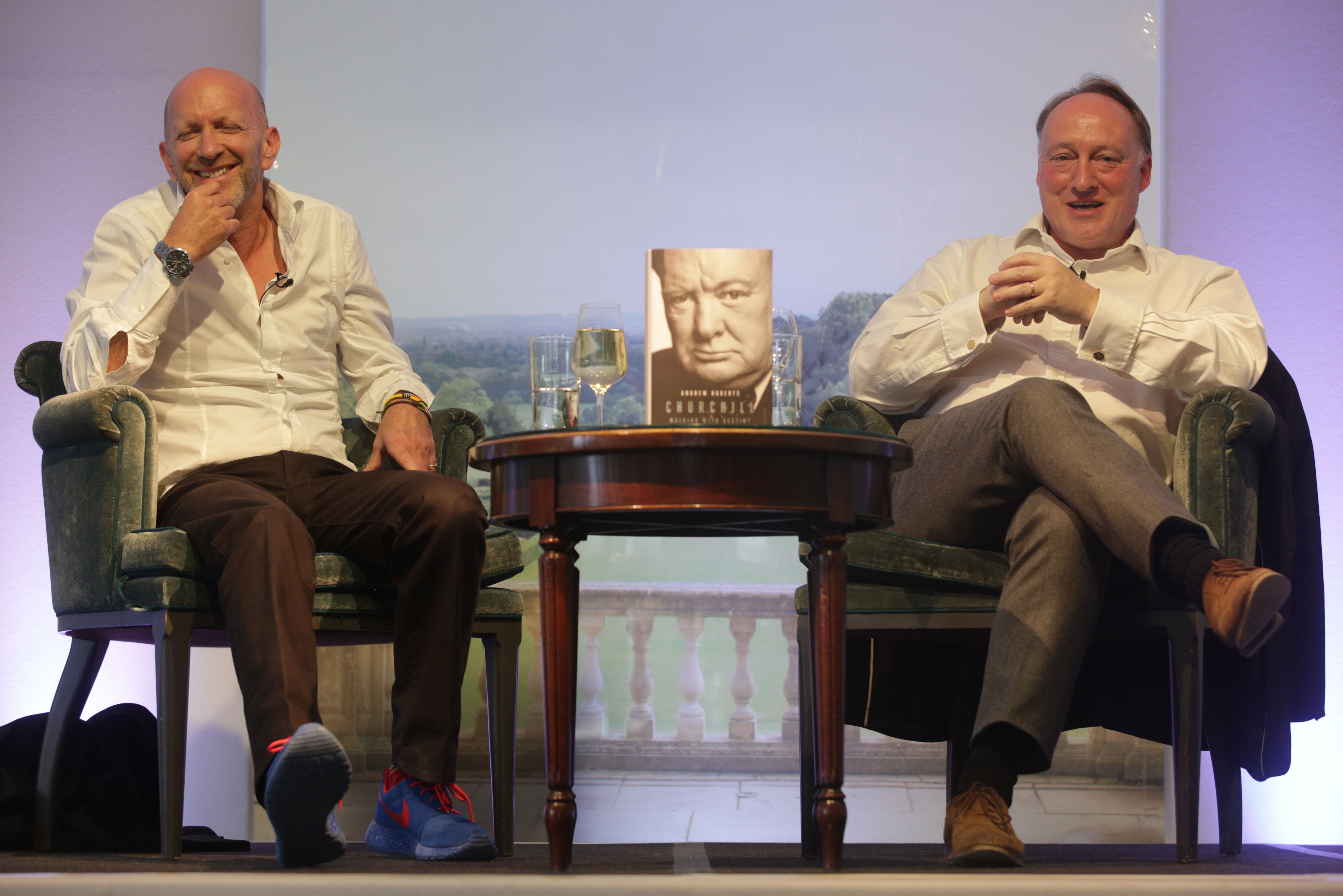 Simon Sebag Montefiore chats to Andrew Roberts about his new book at Cliveden Literary Festival