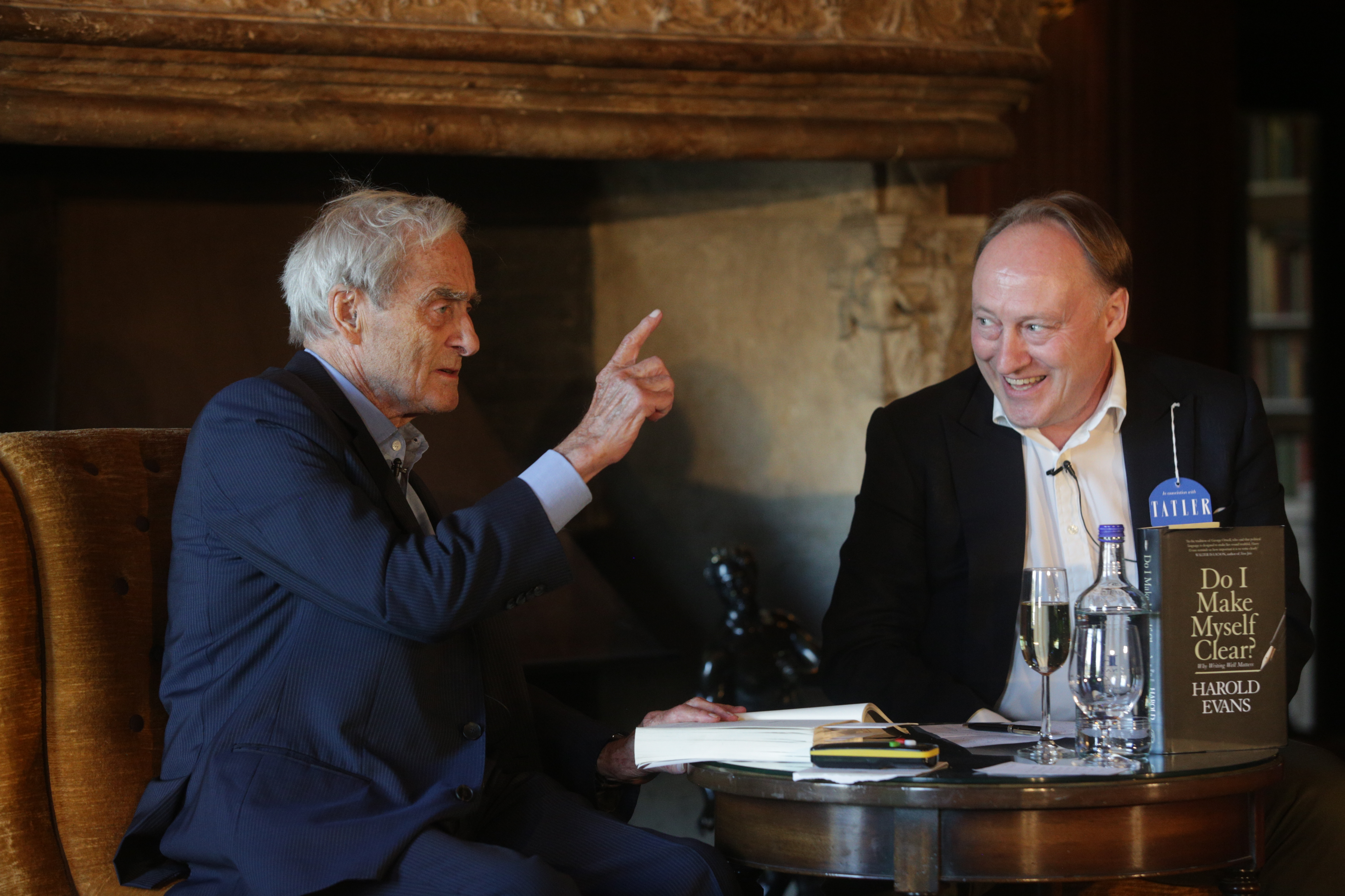 Sir Harry Evans talks with Andrew Roberts at Cliveden Literary Festival