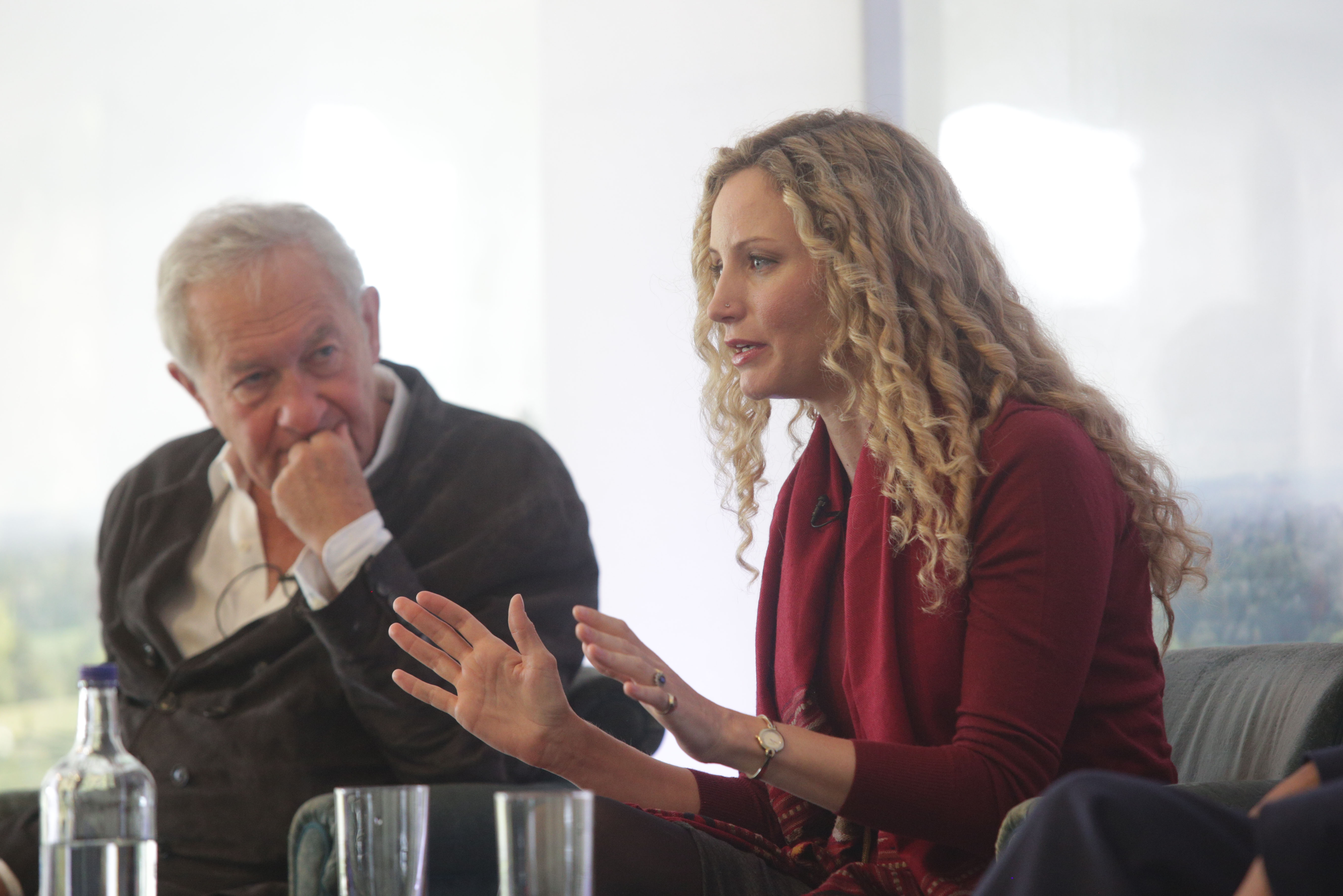 Sir Simon Schama and Suzannah Lipscomb on The Arts Club Stage at Cliveden Literary Festival