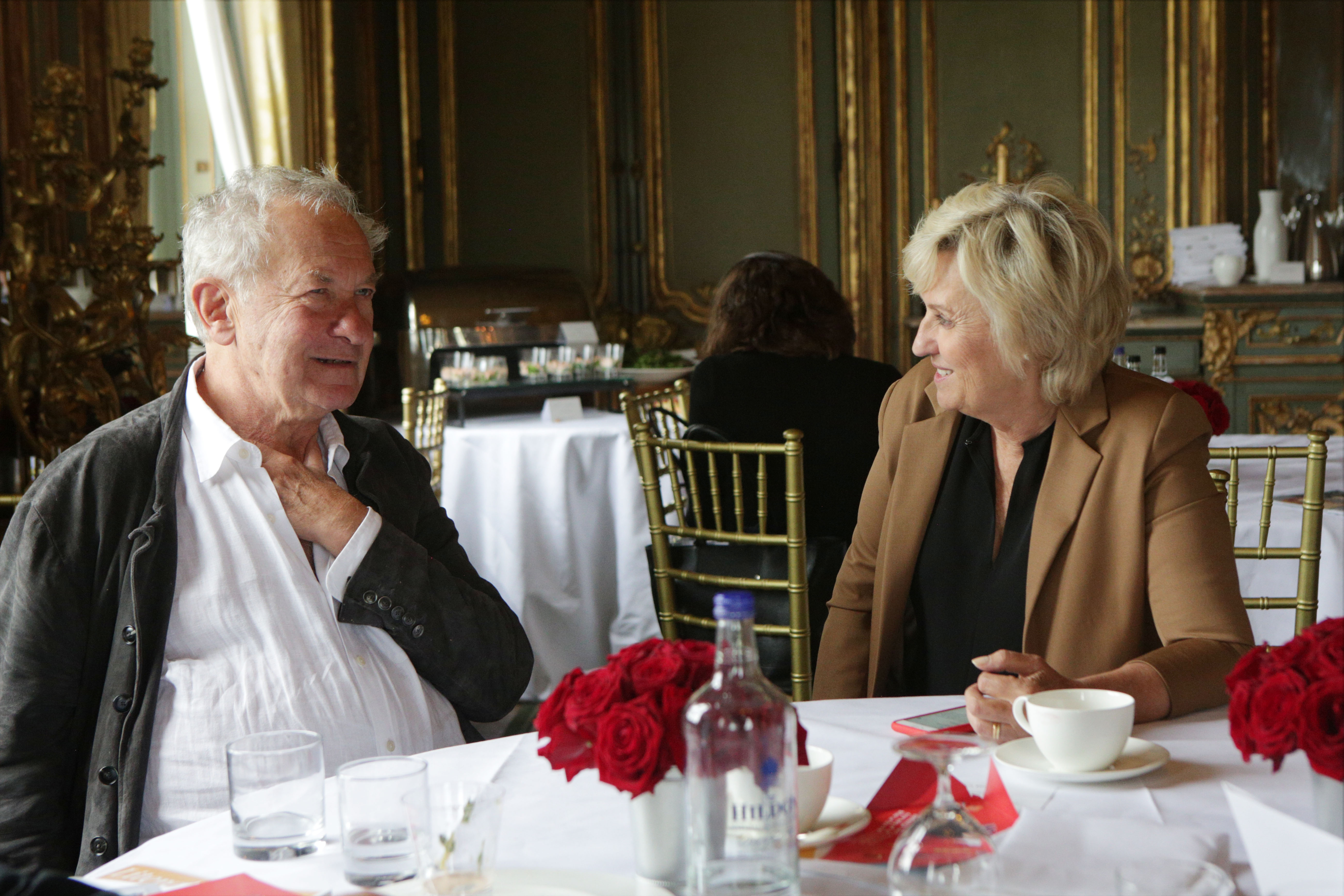 Sir Simon Schama and Tina Brown at Cliveden Literary Festival