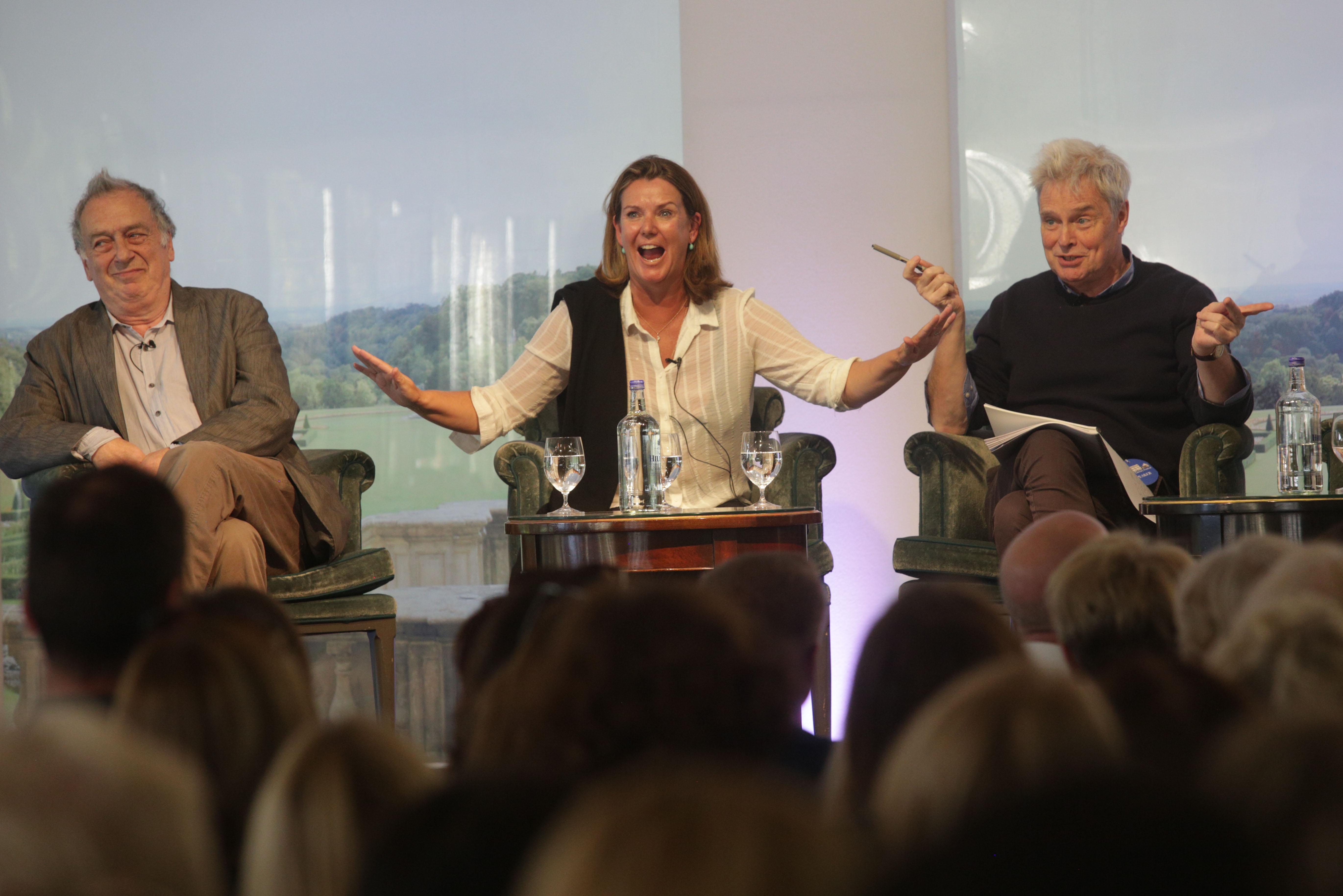 Stephen Frears, Paula Byrne and John Preston at Cliveden Literary Festival