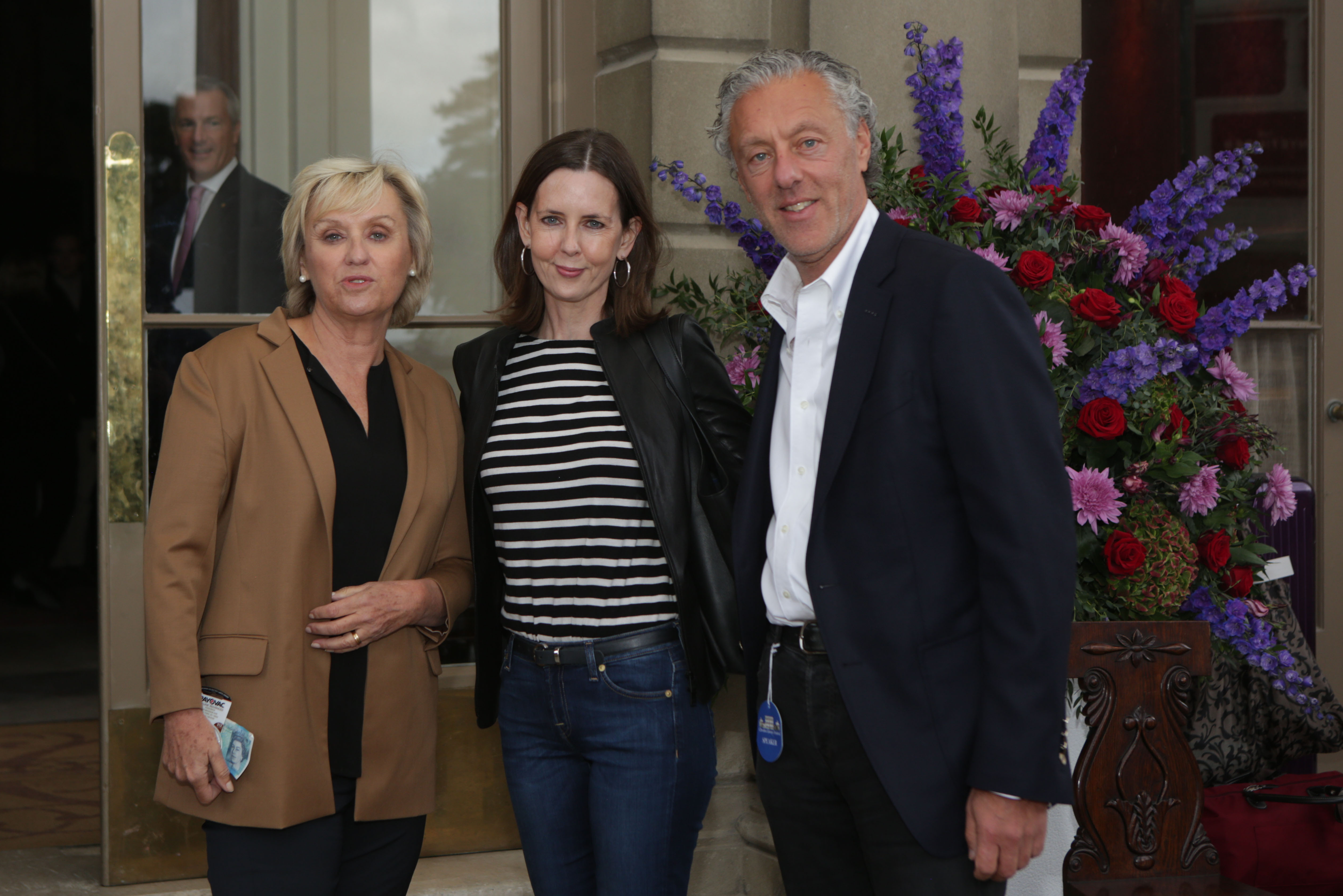 Tina Brown, Susan Gilchrist and Ian Livingstone at Cliveden Literary Festival