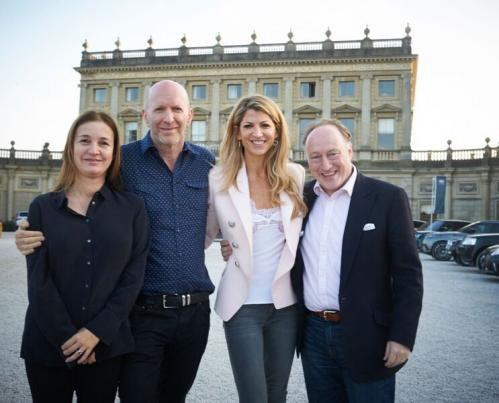 Catherine Ostler, Simon Sebag Montefiore, Natalie Livingstone and Andrew Roberts at the Cliveden Liter preview